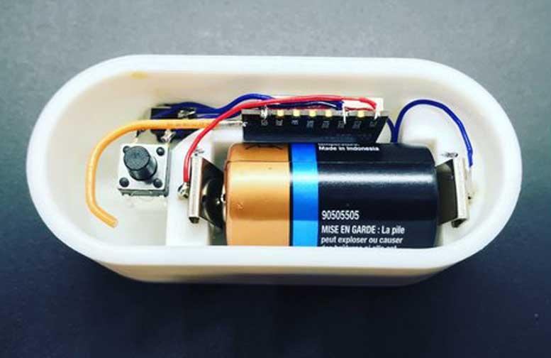 3D Printed MQTT WiFi Button