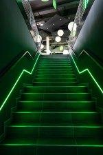 Loxone HQ - Green LED Stairs