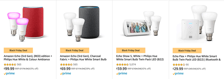 Philips Hue Bundle Deal with Amazon Echo