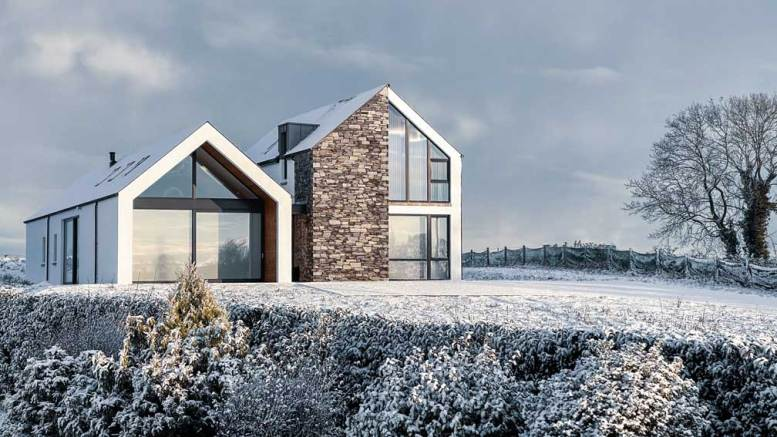 Automated Home 2.0 in the winter snow - kept cosy with its heart pump