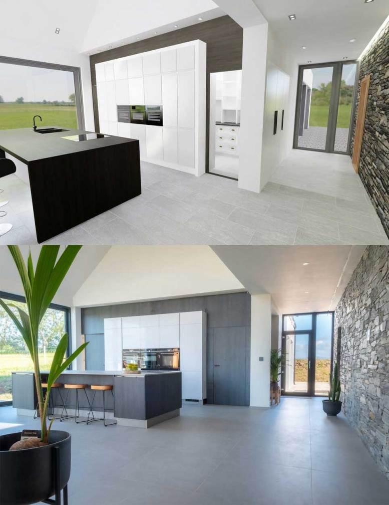 Kitchen Design - 3D Render vs Reality