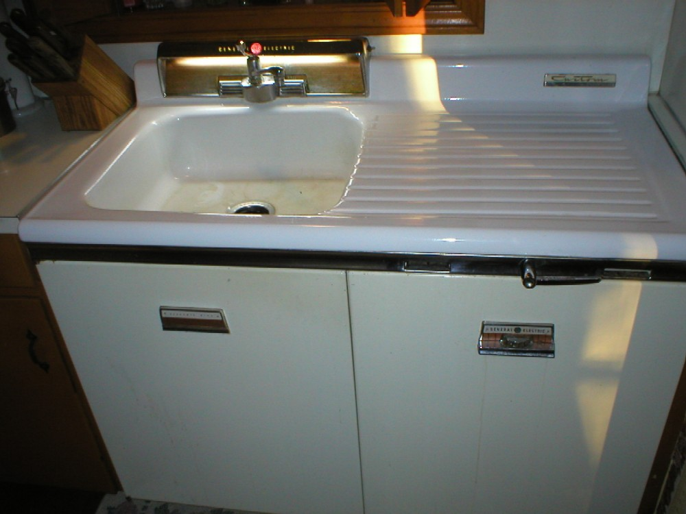 1956 ge sink dishwasher combo in deep south