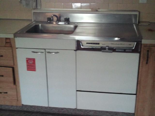 old sink dishwasher combo