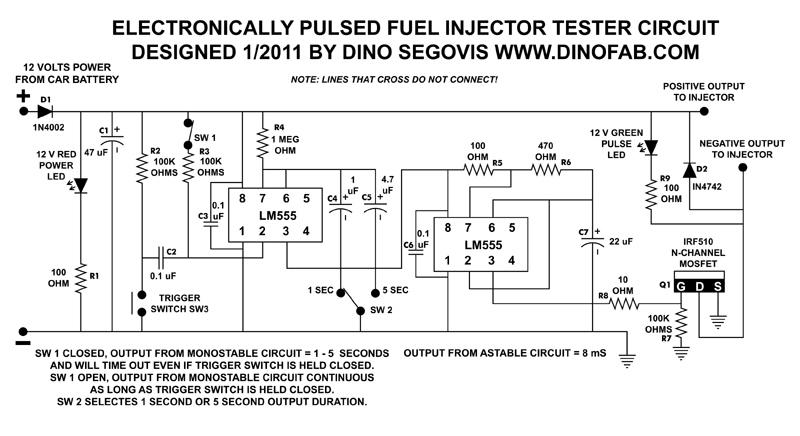 Probador Electr 243 Nico De Inyectores De Combustible