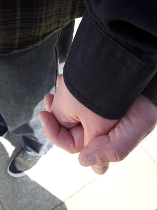 we held hands