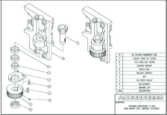 Premium Backgauge R Axis Non Motor Side Carriage Assembly