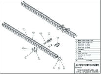 Premium Backgauge Z Axis Manual Z Guage Bar Assembly