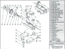 Premium Backgauge Z Axis, Manual Z, Manual X Prime Finger Assembly (Left)