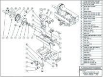 Premium Backgauge Z Axis, Power Z, Manual X Prime Finger Assembly (Left)