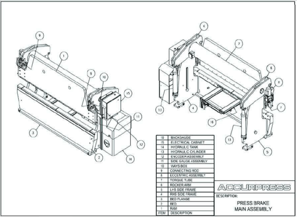 Press Brake Main Assembly