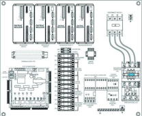 Main Electrical Cabinet Back Panel Layout