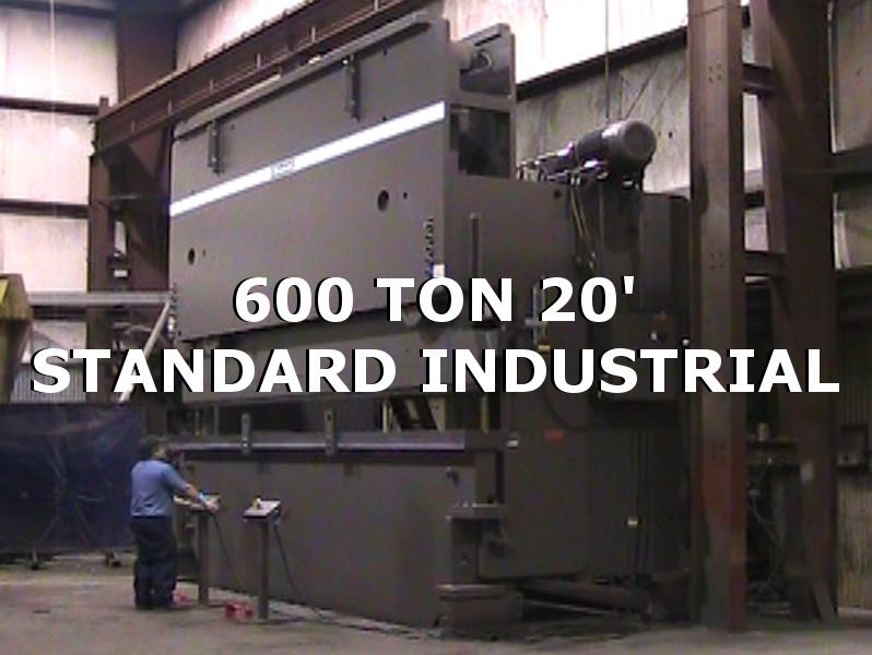 Standard Industrial press brakes 600 Ton 20'