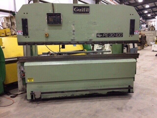 110 Ton Guifil PE-30-100 Up-Acting Hydraulic Press Brake equipped with Automec Autogauge CNC 1000 Backgauge