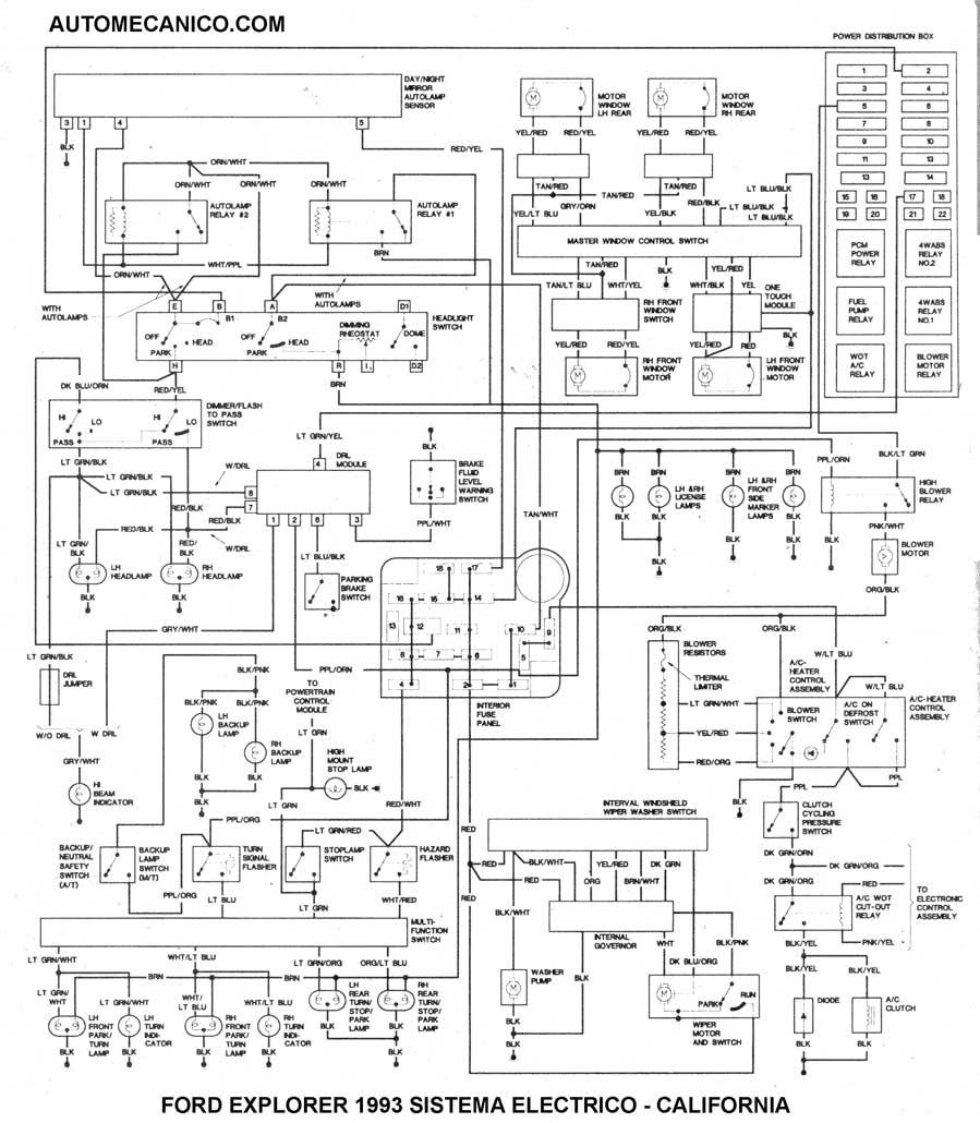 California · 1994 motor 4 0l sistema electrico del motor