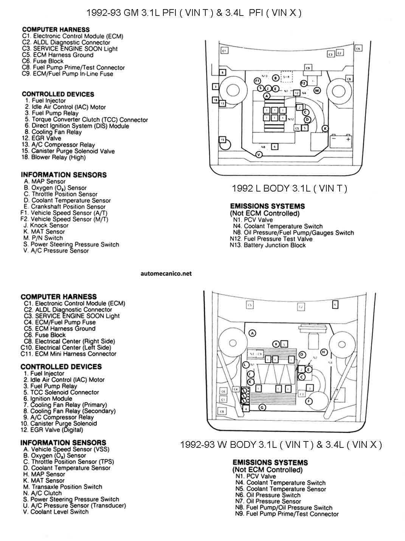G Motors 3 1l V6 92 Diagramas Esquemas Graphics