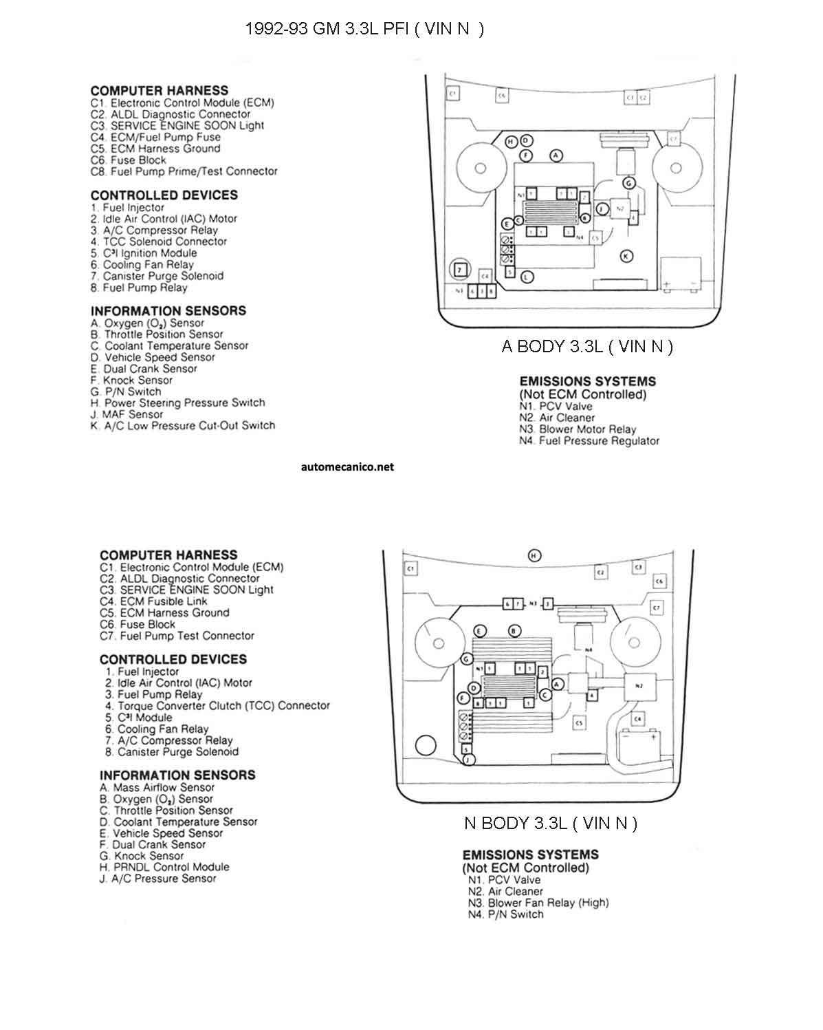 G Motors 3 3l V6 Cil 93 Diagramas Esquemas Graphics