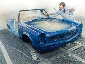 restauration de véhicules anciens réussie