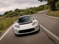 La calandre de la Tesla Roadster en gris