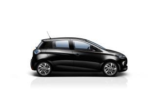 Le côté de la Renault ZOE en gris Neptune