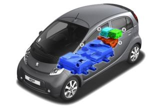 La Peugeot iOn est alimentée par une batterie lithium-ion de 16 kWh