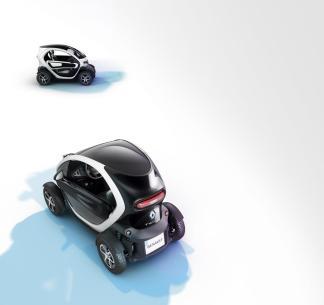 Deux Renault Twizy sur différents plans
