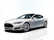 La Tesla Model S en blanc