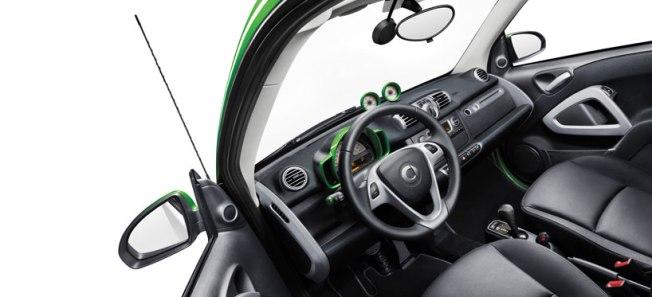 L'intérieur de la Smart électrique