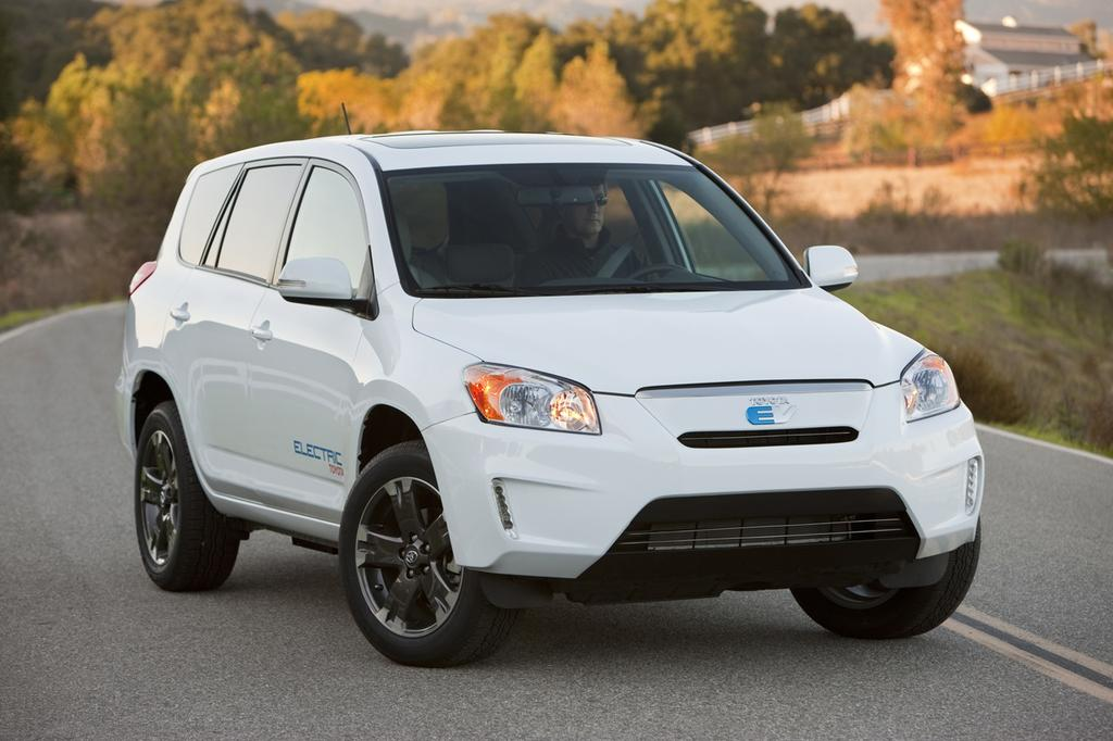 The all-electric Toyota RAV4