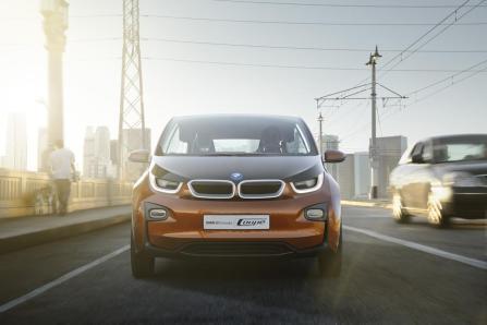 La face avant caractéristique de la BMW i3 coupé