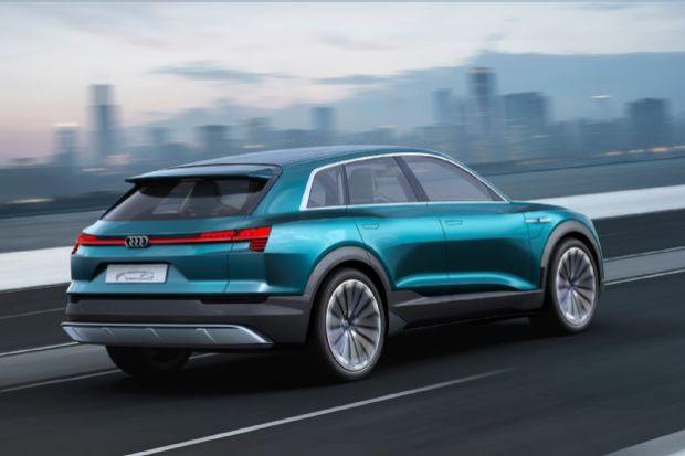 Audi E Tron Quattro Concept Rea Three Quarter In Motion