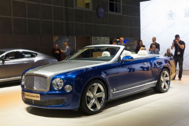 Bentley Grand Convertible Front Three Quarters
