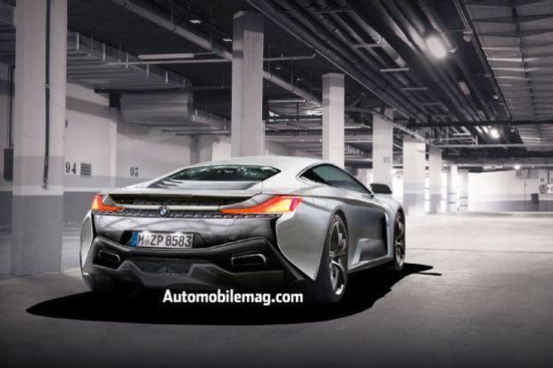BMW Supercar Rear Three Quarter