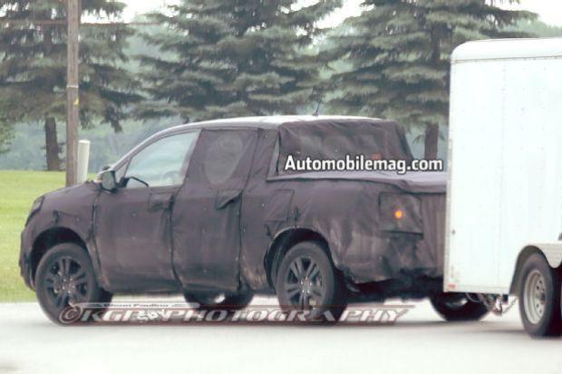 Honda Ridgeline Spy Shot Side 2