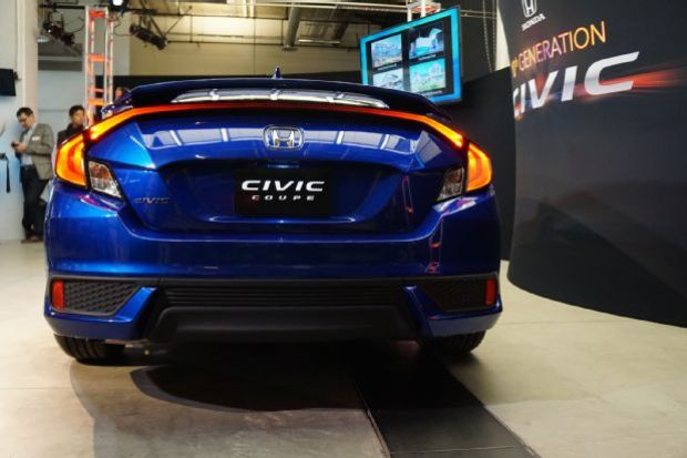 2016 Honda Civic Coupe Reveal Rear End