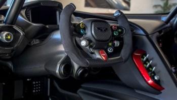 Aston Martin Vulcan visits New Zealand racetrack