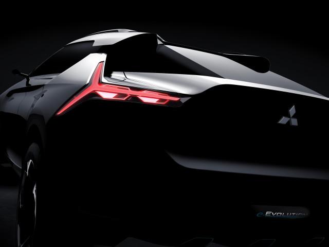 Teaser for Mitsubishi e-Evolution concept debuting at 2017 Tokyo Motor Show
