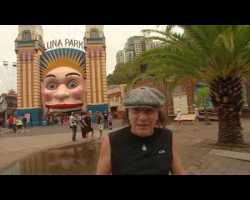 AC/DC's Brian Johnson Rocks Around Sydney in a Roller