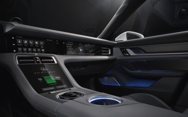 All-electric Porsche Taycan's dash revealed with all of the touchscreens
