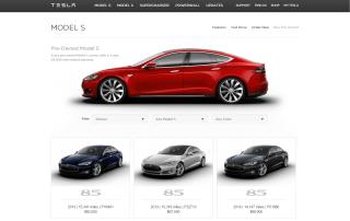 Pre Owned ModelS Tesla Motors