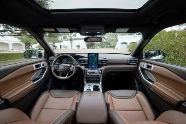 2021 Ford Explorer King Ranch interior.