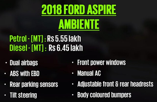 2018-2019 Ford Aspire Review Images buyer guide
