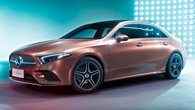 Mercedes Benz A Class Sedan Exterior Side 2019