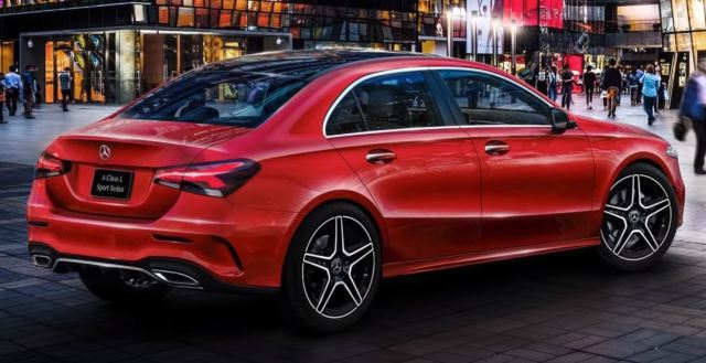 2019 Mercedes A Class Sedan Exterior Rear Back 2019