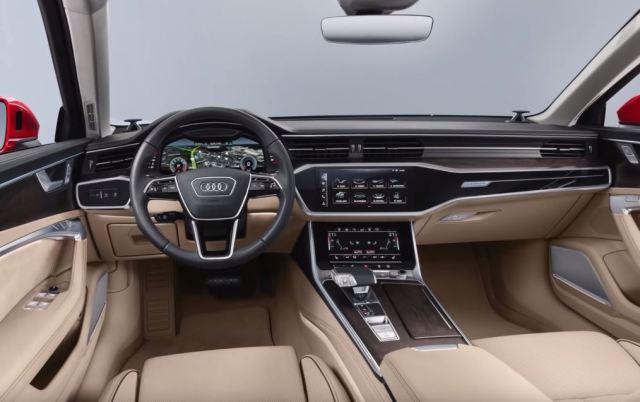 Audi A6 upcoming sedan 2019 Interiors steering wheel gearbox automatic touchscreen