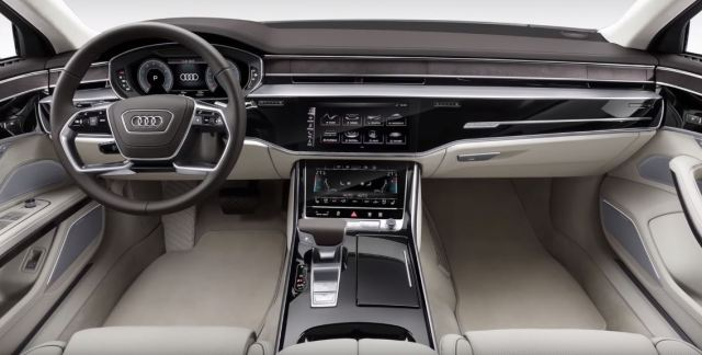 Audi A8 Saloon 2019 Interiors steering gearbox automatic touchscreen 2019