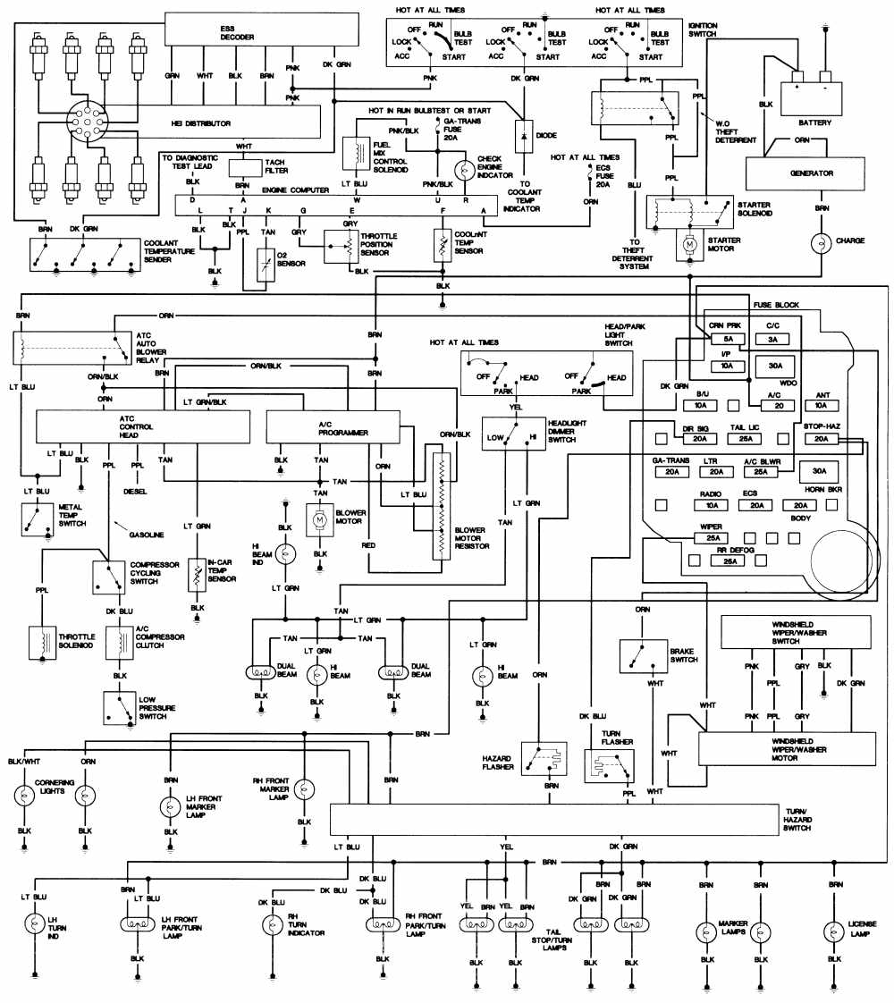 1974 cadillac deville wiring diagram images gallery