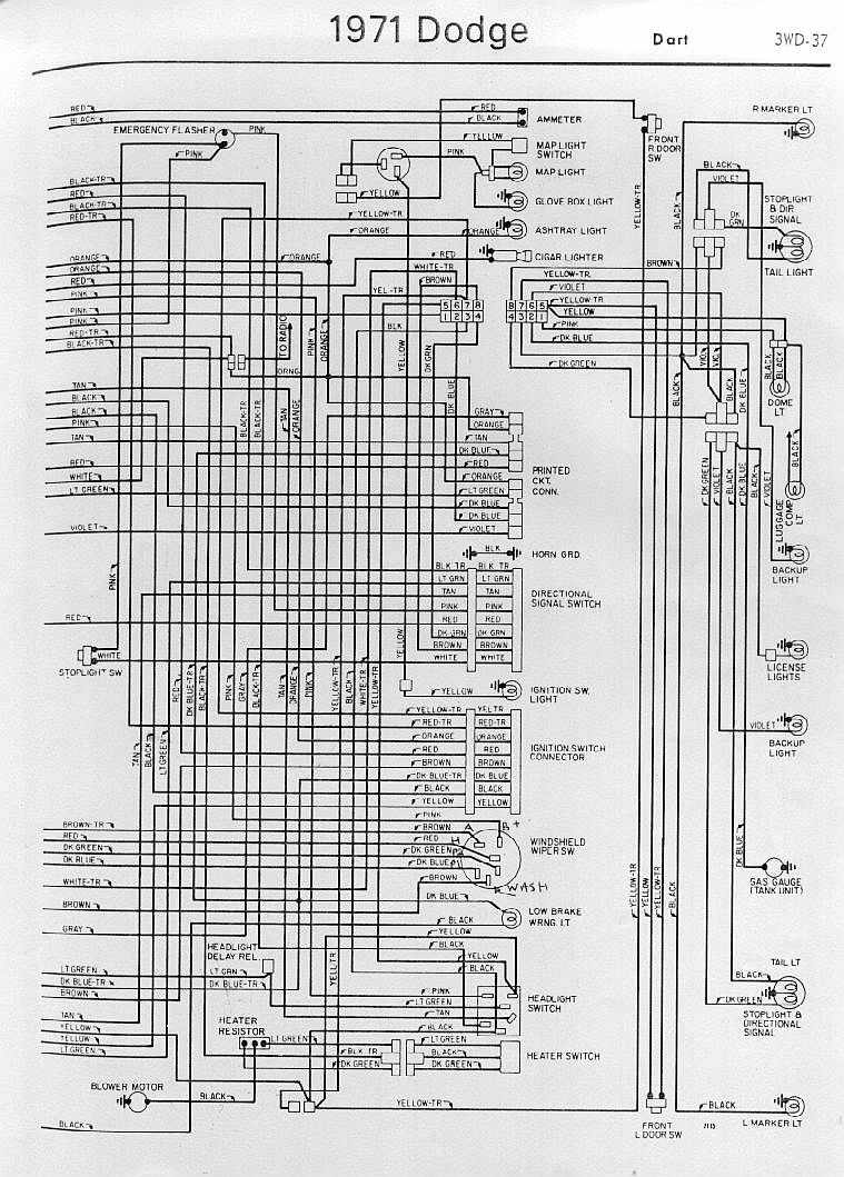 1970 Dodge Dart Swinger Wiring Diagram  Somurich