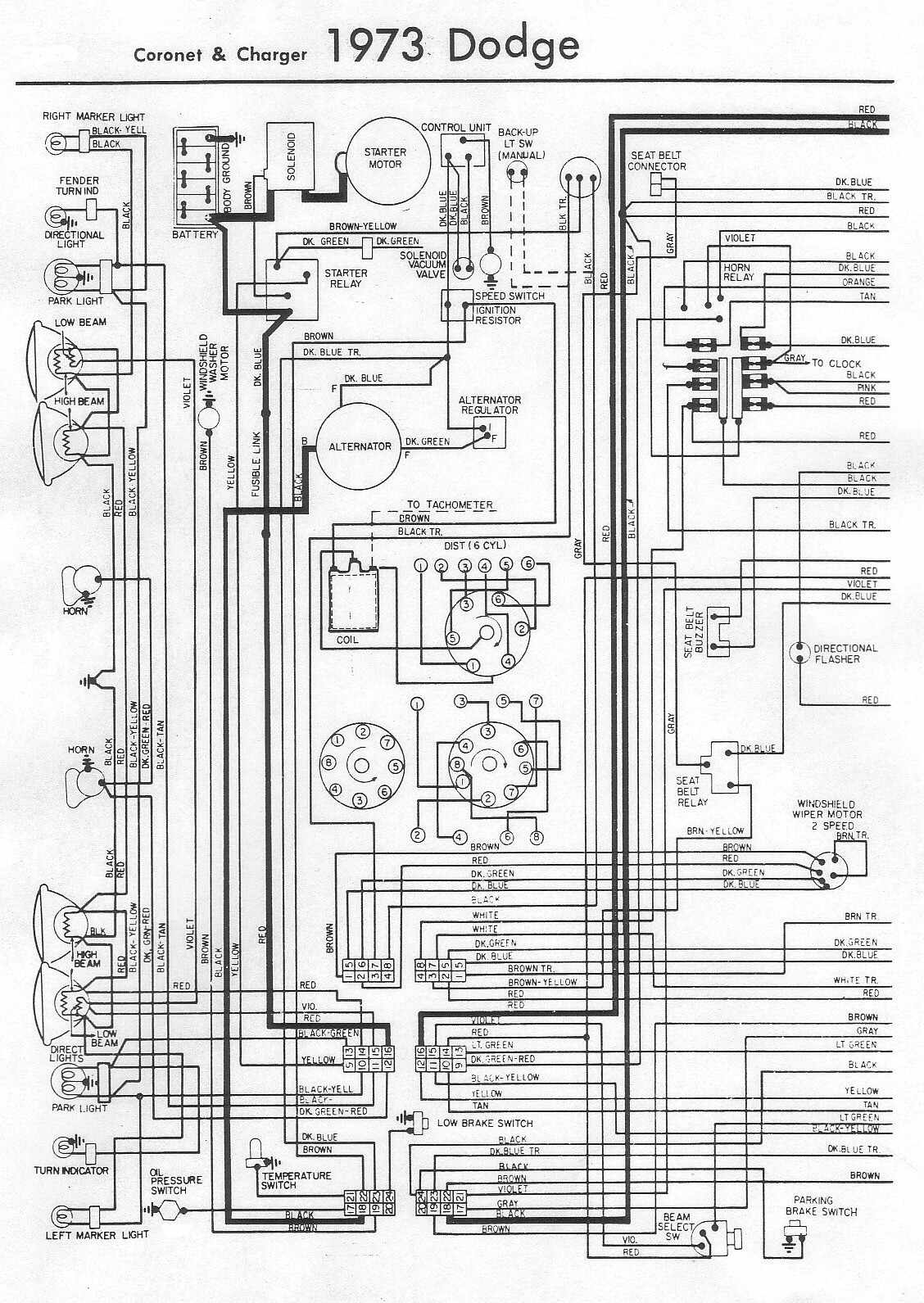 1973 Dodge Charger Wiring Diagram Detailed Chevy Charging Challenger Source F100 Brakelights