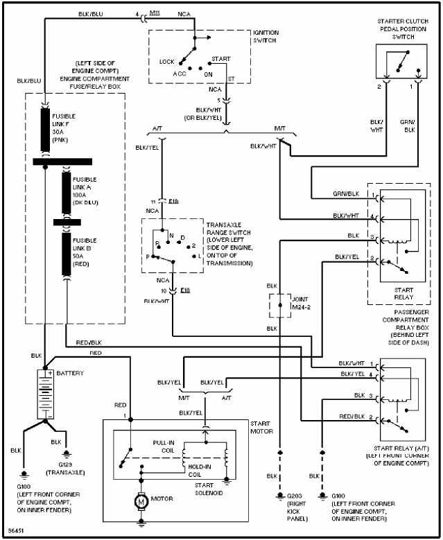 1994 hyundai excel fuse box diagram