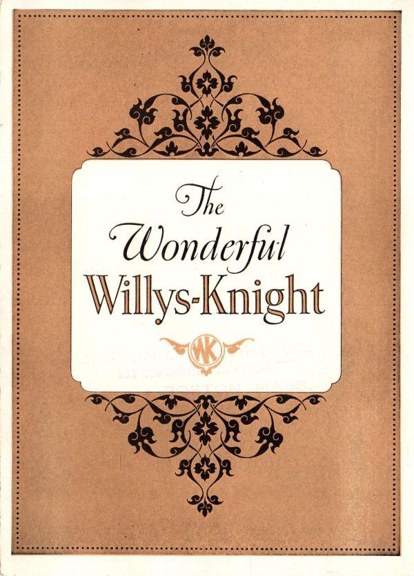 1925 Willys Knight Brochure
